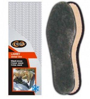 CORBBY- Стельки LAMBY мерлушка, 100% овечьего меха