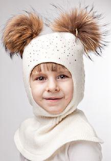 ФОТО ВНУТРИ Красивая шапочка с воротом, стразы,шикарный натур.мех, Италия