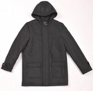 *Пальто с капюшоном СМ11 Bo*relli графит (мальчик)