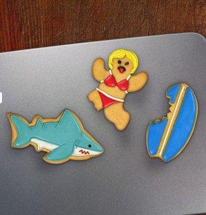 Формы для печенья Акула (набор 3шт)