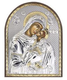 *Серебряные иконы из Греции* Минутка подумать о душе..  — иконы с Богоматерью — Предметы религии