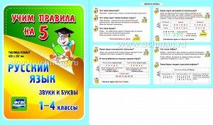 ФГОС,Русский язык. Звуки и буквы. 1-4 классы.,(Таблица-плакат 420х297),(А3 свернут в А5)