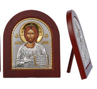 *Серебряные иконы из Греции* Минутка подумать о душе..  — Иконы со Спасителем — Предметы религии