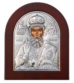 серебряные иконы из Греции на дереве