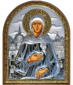 Серебряная икона Св. Ксения (ГРЕЦИЯ)