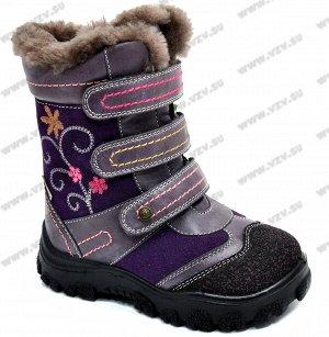 Ботинки зимние Котофей для девочки, стелька 17,5 см, р. 28 реал фото