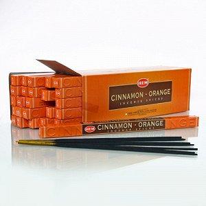 Благовония HEM, четырехгранники, Cinnamon Orange (Корица Апельсин)