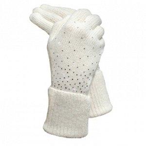 Вязаные перчатки св. серые