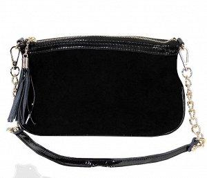 Женская сумка, натуральная замша