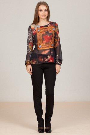 Нарядная блуза с пуговицами на спине