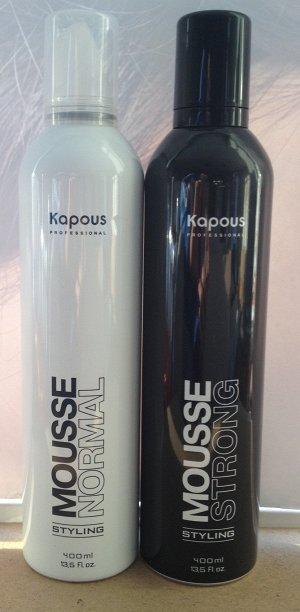 Мусс для укладки волос Mousse Strong 400мл (Черный)