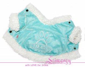 Дубленка для собак 'Paw' голубая
