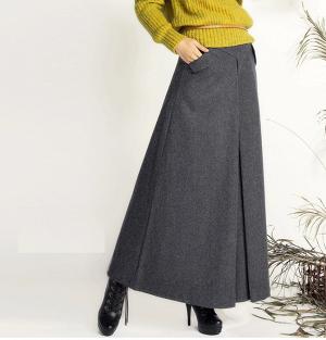 Шерстяная юбка макси, 26 размер