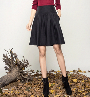 Дизайнерская шерстяная юбка, размер S