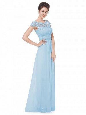Голубое платье на торжество
