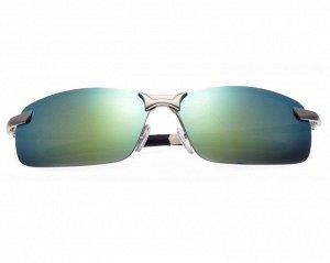 Поляризованные очки с голубо-зелеными зеркальными стеклами