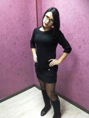 Вязанное платье-туника 42-44