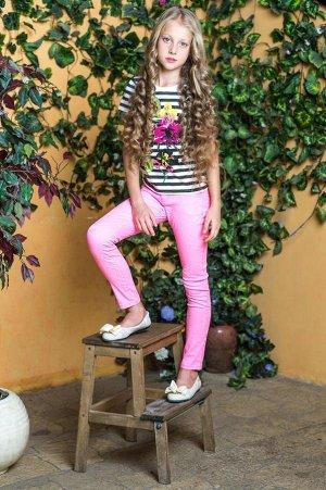 Яркие брюки неон