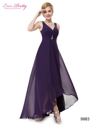 Шикарное вечернее шифоновое платье с V-образным вырезом