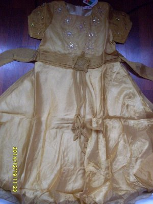 Нарядное платье песочное