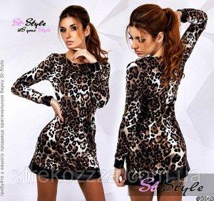 леопардовый платье S