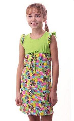 Яркое летнее платье на девочку (на рост 120-126 см)