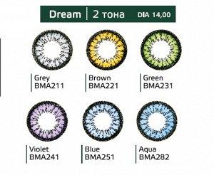Перекрывающие цветные контактные линзы (Dreamcon) HERA Color Dream Dioptr (2 линзы)