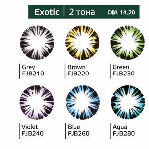 Перекрывающие цветные контактные линзы (Dreamcon) HERA Color Exotic Dioptr (2 линзы)