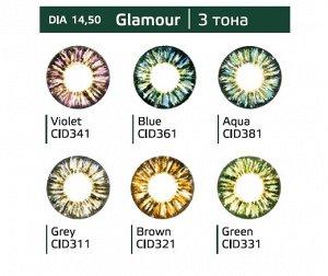 Перекрывающие цветные контактные линзы (Dreamcon) HERA Color Glamour Dioptr (2 линзы)