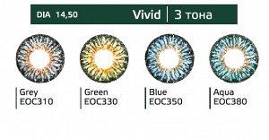 Перекрывающие цветные контактные линзы (Dreamcon) HERA Color Vivid Dioptr (2 линзы)
