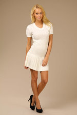 Вязанное платье белое, размер 44