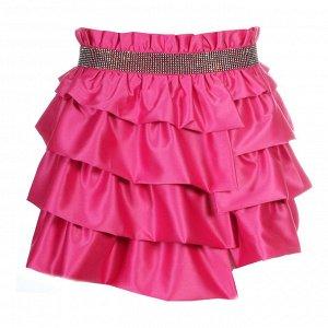 Нарядная Розовая атласная юбка  S.A.B.O.T.A.G.E, р.170 - 42