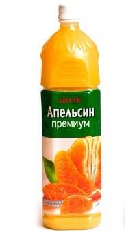 """Нектар Апельсиновый неосвет. ТМ """"Lotte"""" 1,5л"""