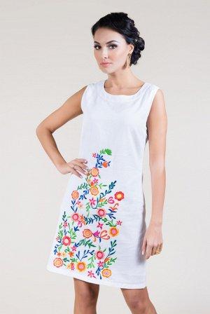 15201-1L  Платье  М-ХL (3), 97 см, белый