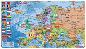 Европа политическая, 33х47, карта-пазл, 260 дет ДГИ КП
