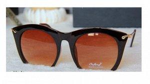 """Солнцезащитные очки коричневые """"обрезанные"""" снизу"""
