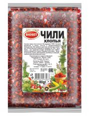 Чили Нарезанный хлопьями перец чили, удобен в применении. Он менее острый, чем молотый перец, но более ароматный и пряный