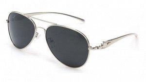 Поляризованные очки в серебряной оправе