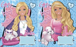 Тетрадь Тетр 12л скр А5 кл мел B830/2-ЕАС Barbie , формат - А5, способ крепления - скрепка, тиснение фольгой количество листов - 12 листов, линовка клетка ,58033