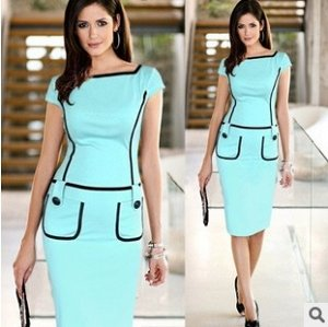 Летнее платье. Приятного мятного цвета.