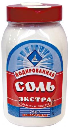 Соль Экстра йод в ПЭТ-банках, 750 гр.
