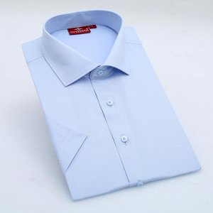 Рубашка светло-голубая с коротким рукавом 52 размера на высокого мужчину.