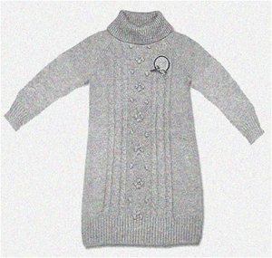 Вязанное платье 140