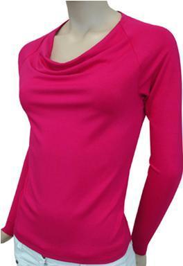 Блузка (футболка) трикотажная с длинным рукавом, 44 размер.