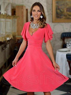Платье, цвет коралловый