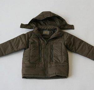Куртка детская демисизонная на мальчика. Цвет хаки, на рост 128 см.