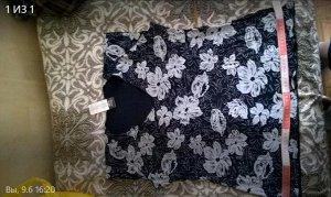 топ-блуза в рисунок