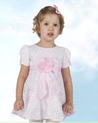 Гипюровое платье розовое