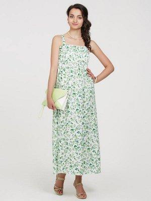 Сарафан для беременных и кормящих  -зеленые розы-