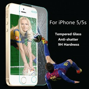 Стекло защитное на ровную часть экрана iphone